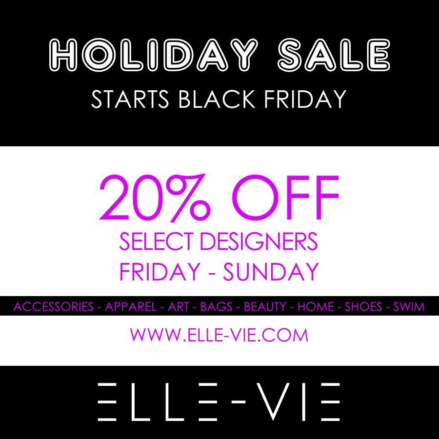 Shop with us at @ShopElleVie for #BlackFriday. Get 20% OFF select pieces ALL weekend long! 👠💃🏾💄#BlackOwnedBusiness https://t.co/Fg01mYpHb8