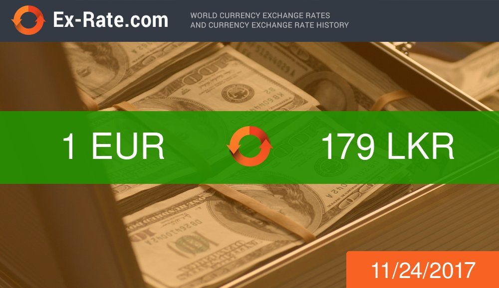 #EUR #LKR exchange rate. #exrate 178.85  https:// ex-rate.com/convert/eur/20 -to-lkr.html &nbsp; … <br>http://pic.twitter.com/t6sKiUyBjn