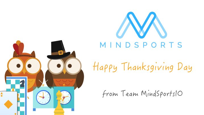 Wish You All A Very Happy and Blessed Thanksgiving! At MindSports IO, We are thankful for all your support and encouragements for developing our Dapps. #blockchain #ethereum #mindsportsio<br>http://pic.twitter.com/z9vGDpiOU9