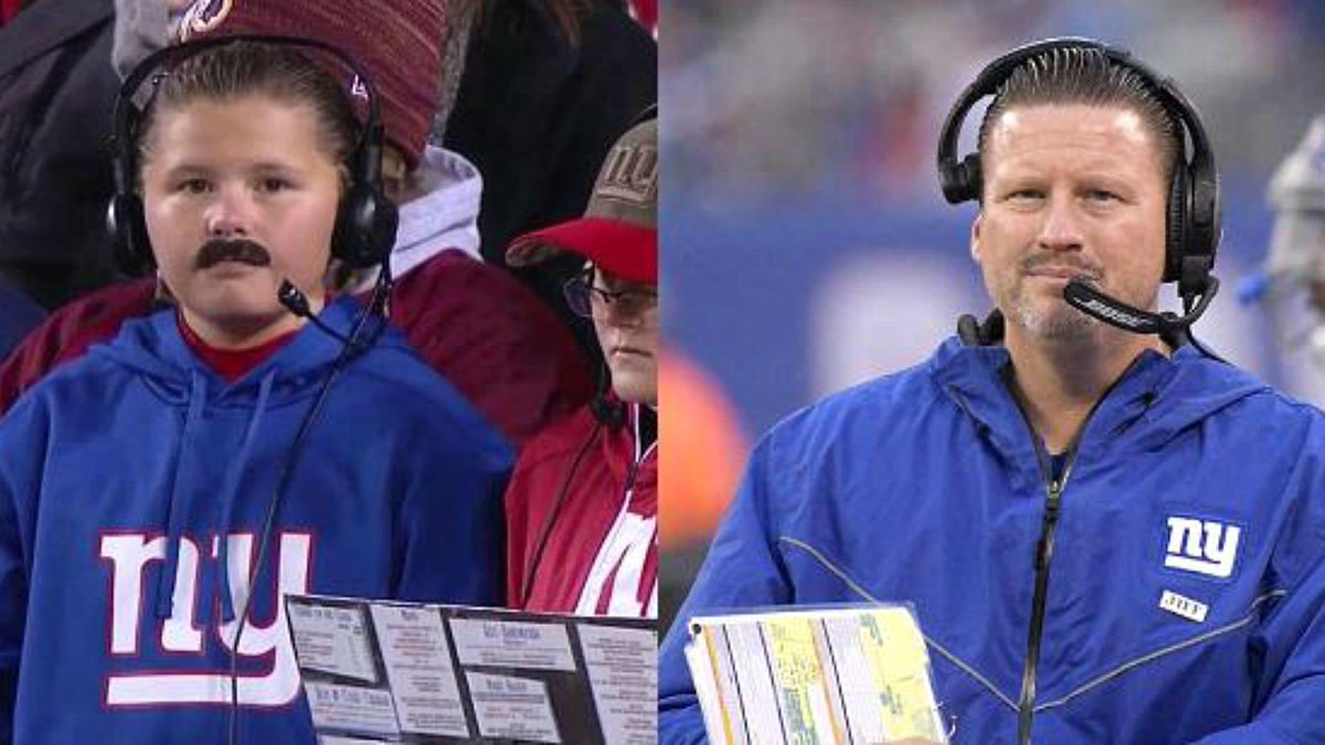 Mini Ben McAdoo is 0-1 this season; the real Ben McAdoo is 2-9 as the Giants' coach. #NYGvsWAS