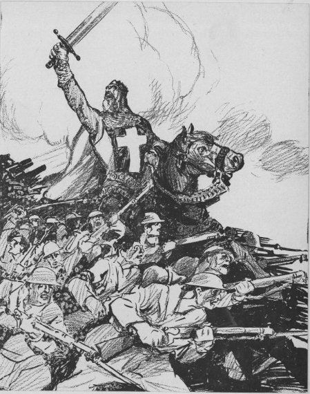 Nov 18, 1917 - Cleveland Plain Dealer depicts British campaign to capture Jerusalem from Turks as a modern-day crusade #100yearsago