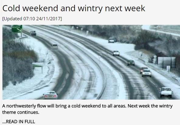 Cold weekend and wintry next week [Updated 07:10 24/11/2017] Latest UK #weather outlook  https://www. theweatheroutlook.com / &nbsp;  <br>http://pic.twitter.com/Qi8ebCLGtK