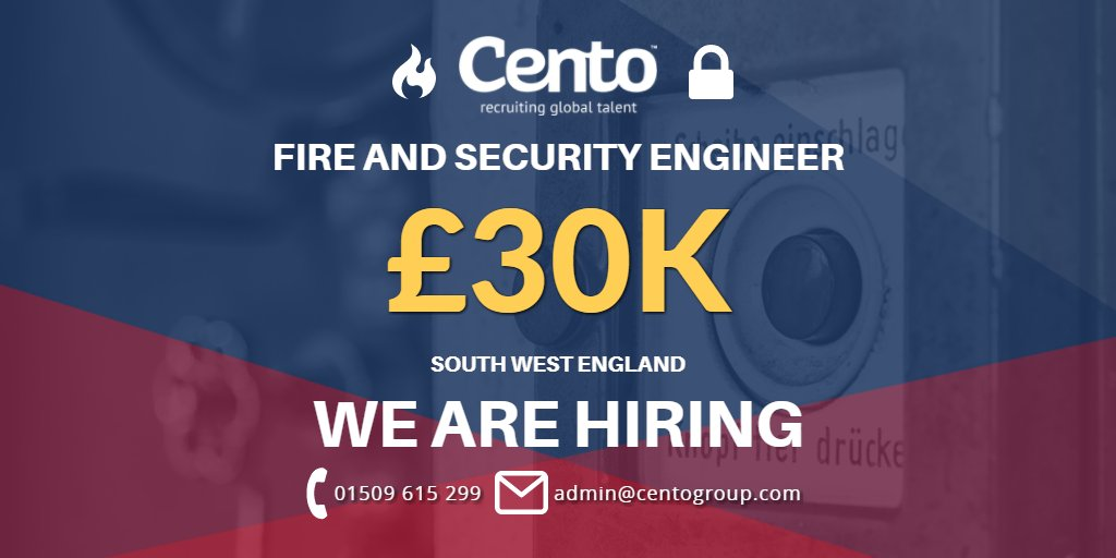 Fire and Security Engineer Job in the South West @Cento__Paul | Apply   https:// buff.ly/2A0P5QP  &nbsp;   #CareerArc #Fireandsecurity<br>http://pic.twitter.com/RRSuZLVIxa