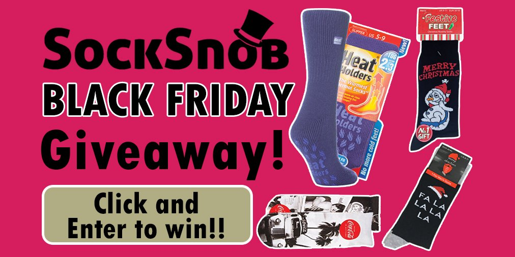 #BlackFriday is here! And we have a big brand #New #Giveaway for you! Click &amp; enter to potentially #win A bunch of sock products!  http:// bit.ly/2nji5x2  &nbsp;   #rt #follow #free #freebiefriday #freebie #comp #Competition #Thermal #Warm #Winter #WinterIsComing #Xmas #HeatHolders #Socks <br>http://pic.twitter.com/fZg58cS4JS