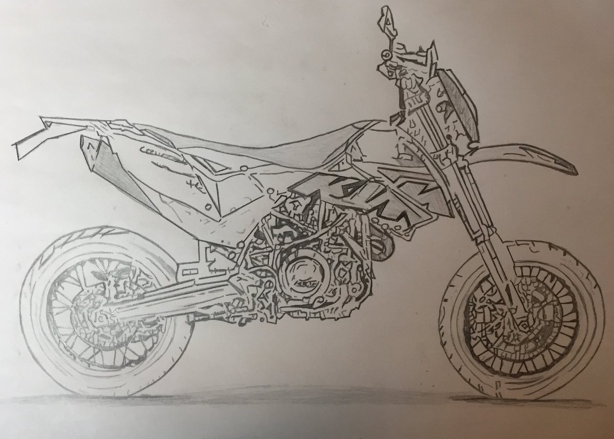 Dessin dessinn43 twitter - Dessin moto ktm a colorier ...
