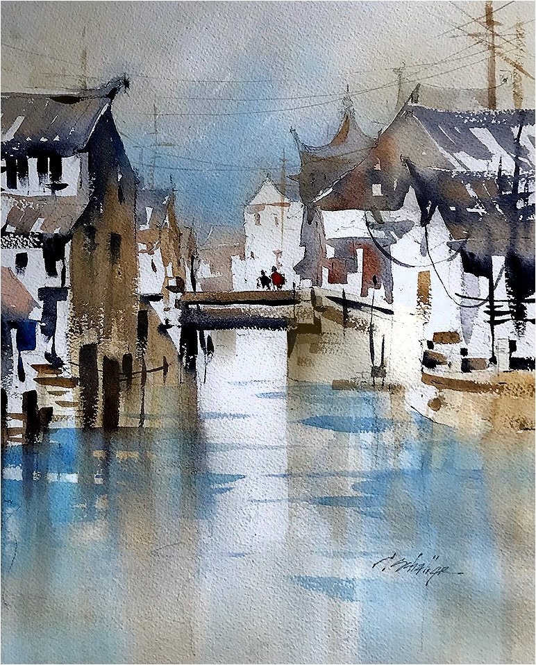 Early Morning Sketch #fengjing #china #pleinair #watercolor #frozenfingers #art #architecture #thomaswschaller @danielsmith<br>http://pic.twitter.com/oPHqW6yarh