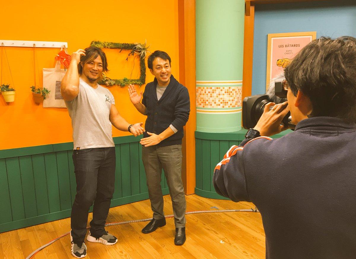 今夜は新日本プロレス #米子ビッグシップ #njpw #棚橋弘至 さん は試合を...