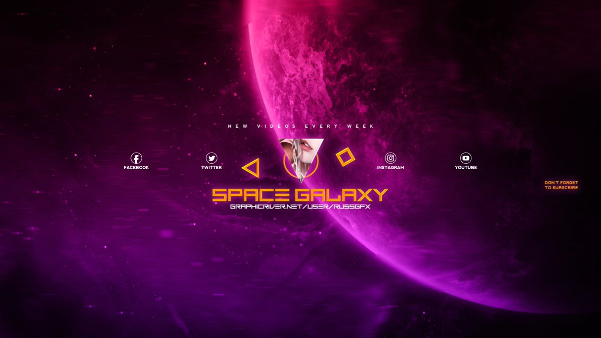Russgfx On Twitter 3 Galaxy Space Youtube Channel Art Banners