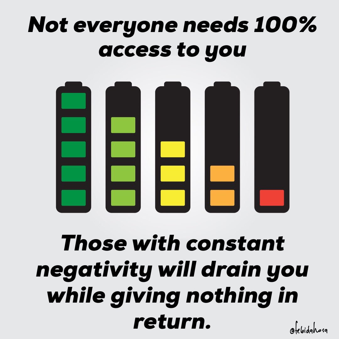 #Negativity needs to be out, or those who bring it will take your 100% down to dangerously low levels. <br>http://pic.twitter.com/Lr0ua3IMZ9