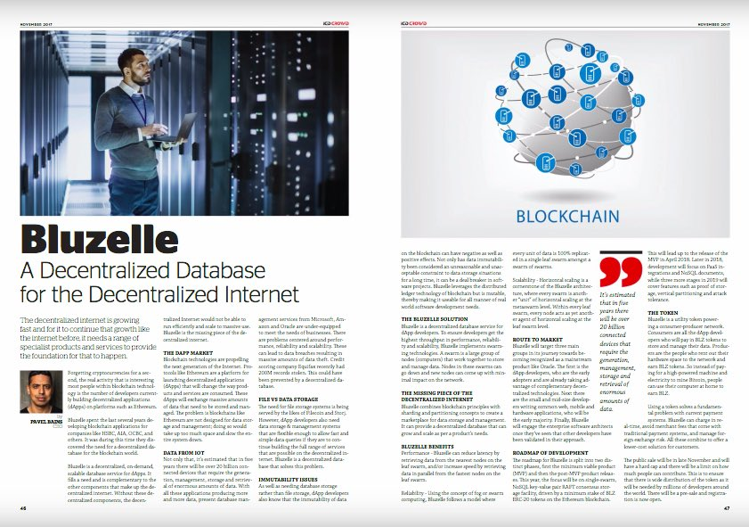 Bluzelle Featured in ICO CROWD Magazine! Pages 48-49  https:// issuu.com/icocrowd/docs/ ico_20crowd_203_20_20_203mm_20bleed?e=30311388/55470167 &nbsp; …   #dapps #blockchain #startup #ico #token #fintech<br>http://pic.twitter.com/Q2H9LXJ9pD