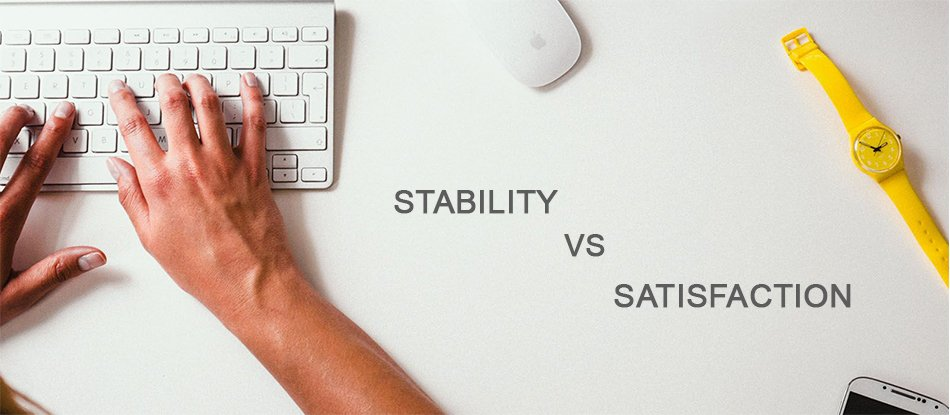 Stability v/s Satisfaction -  https://www. aileensoul.com/blog/stability -v-s-satisfaction &nbsp; …   While choosing a right career, various factors come in to debate like whether we choose stability or satisfaction.  #Stability #Satisfaction #CareerArc #Careers #Careeradvice #CAREER #Opportunity #careeropportunity<br>http://pic.twitter.com/hnXJQjrbzl