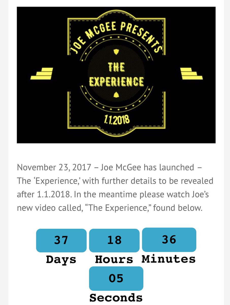 #countdown #timer #areyouready #theexperience #leadership #manager #callcenter #january18 #training #phase1 @easythemogul - The 'Experience' announcement on 1.1.18. Watch my #youtube video at  https:// youtu.be/JgTg0h0df58  &nbsp;  <br>http://pic.twitter.com/JaAD5vTR7e