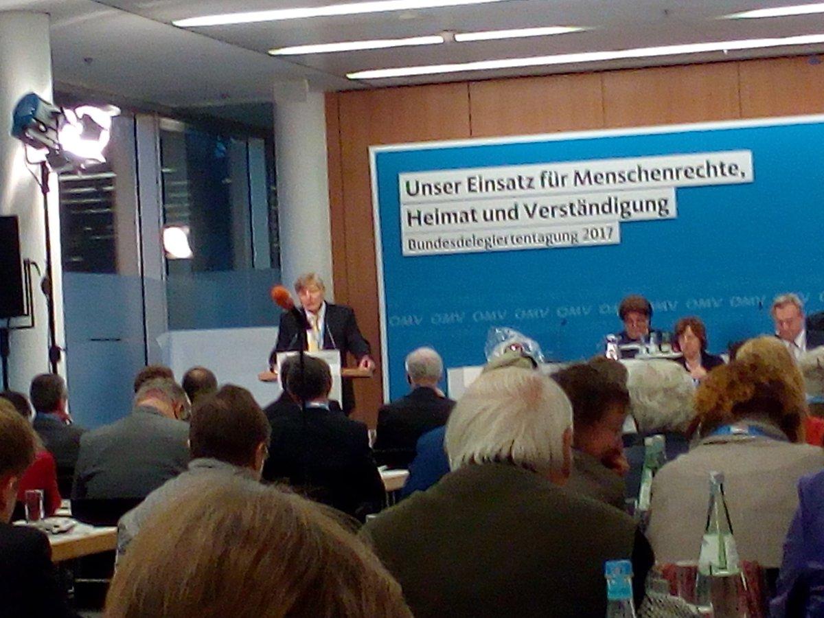 Bericht des OMV-Bundesvorsitzenden Helmut Sauer auf der  #bundesdelegiertentagung/2017