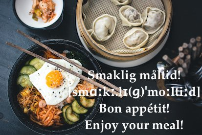 #Swedish expression of the day: Smaklig #måltid! (Bon appetit!)  Means &quot;tasty meal&quot; #swedishexpressionoftheday #seod #speakswedish #bon <br>http://pic.twitter.com/4UwOtlCAOl