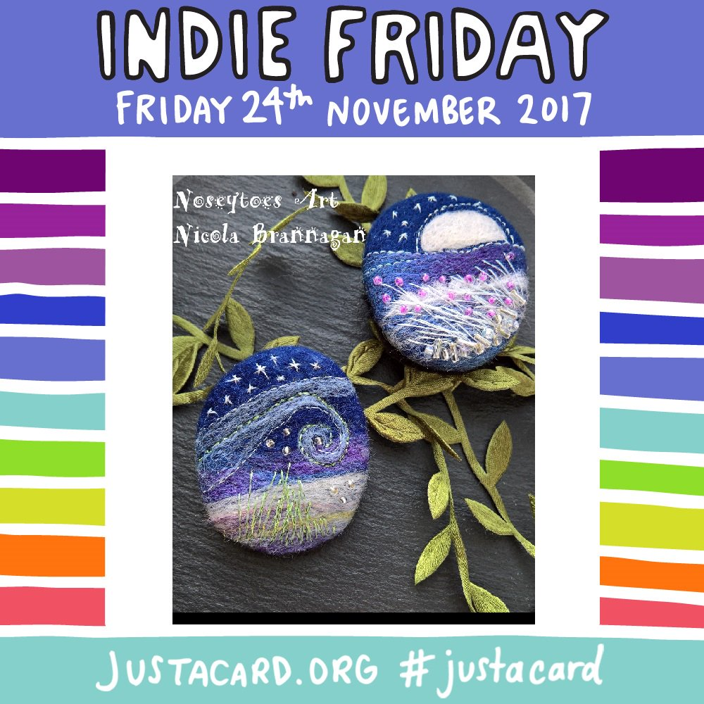 Yay it is #Indiefriday #JACIndieFriday supporting small businesses, independent makers and artisans, we are making it a #colourful #Friday rather than a #BlackFriday #handmadehour #justacard #support #Fridayfeeling<br>http://pic.twitter.com/qjBQA7iwij