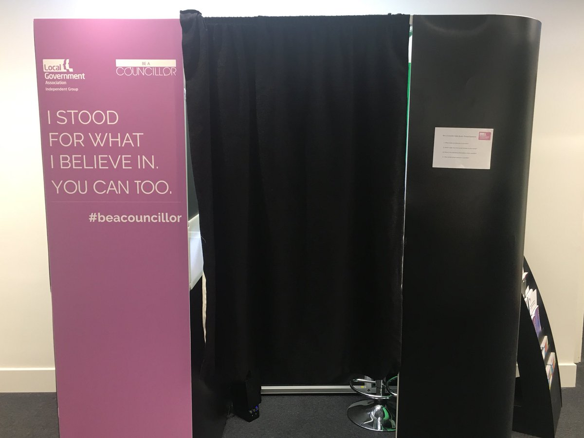 RT @LGAcomms At #LGAIndyConf2017? Pop into the @beacouncillor video booth to share why you became a councillor!  #beacouncillor