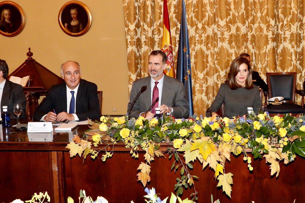 Королевская чета Испании посетила заседание в Генеральной библиотеке Испании