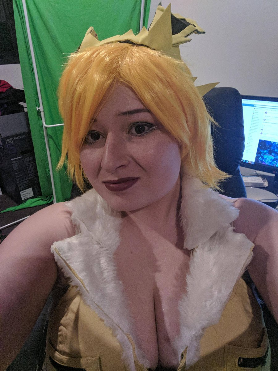 I'm am live and Cosplay ready  #jolteon #twitchstreamer #twtichaffilate #newemote