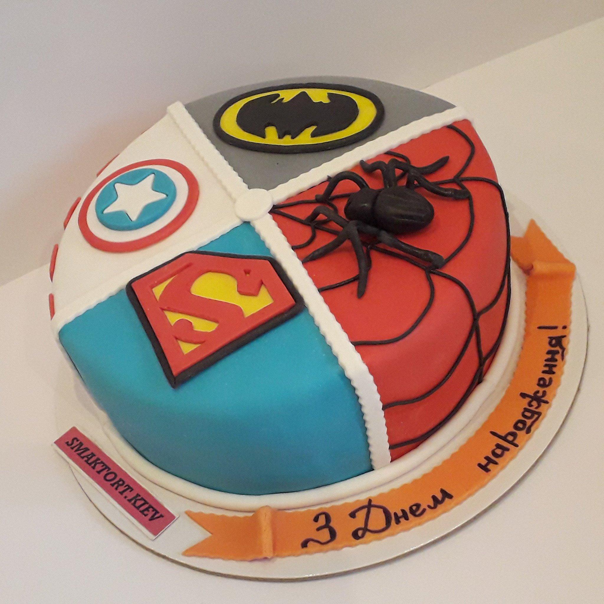 Картинки, торт с супергероями картинки