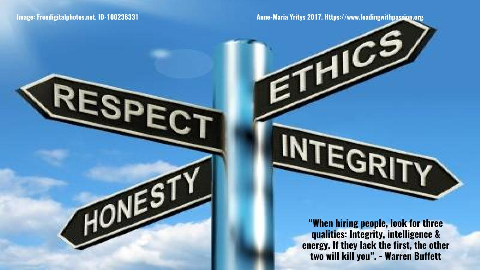 &quot;When hiring people, look for 3three qualities: integrity, intelligence and energy&quot;. -Warren Buffett  http:// bit.ly/INTEGRITY333  &nbsp;   #leadership #communication  #integrity<br>http://pic.twitter.com/BBWVXz8ENm