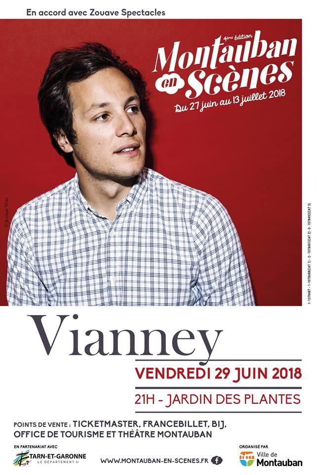 """Vous l'entendez régulièrement sur @totem_radio Le chanteur @VianneyMusique sera à l'affiche du prochain """"#montauban en scènes"""" le 29 juin prochain. pic.twitter.com/1zObBsTtEa"""