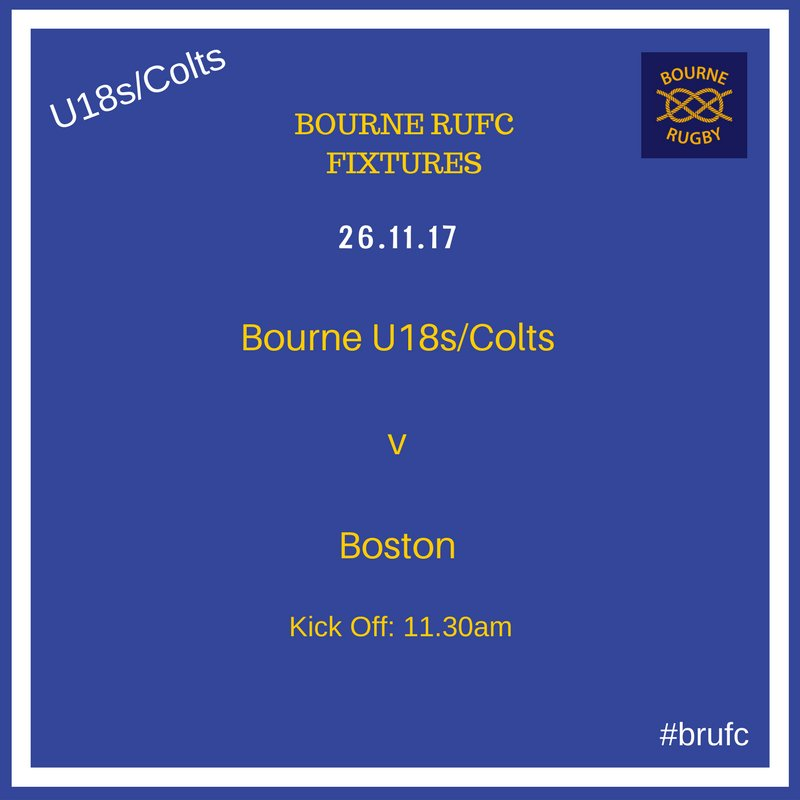 Bourne Rugby Club On Twitter The U18s Colts Are Back In Action This Weekend Their Series Against Boston Home Kicking Off At 11 30am Sunday