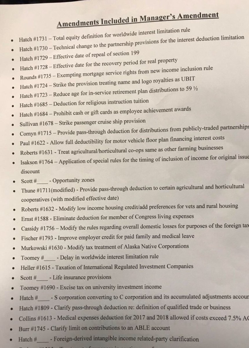 This is so bad. We have just gotten list of amendments to be included in bill NOT from our R colleagues, but from lobbyists downtown. None of us have seen this list, but lobbyists have it. Need I say more? Disgusting. And we probably will not even be given time to read them.