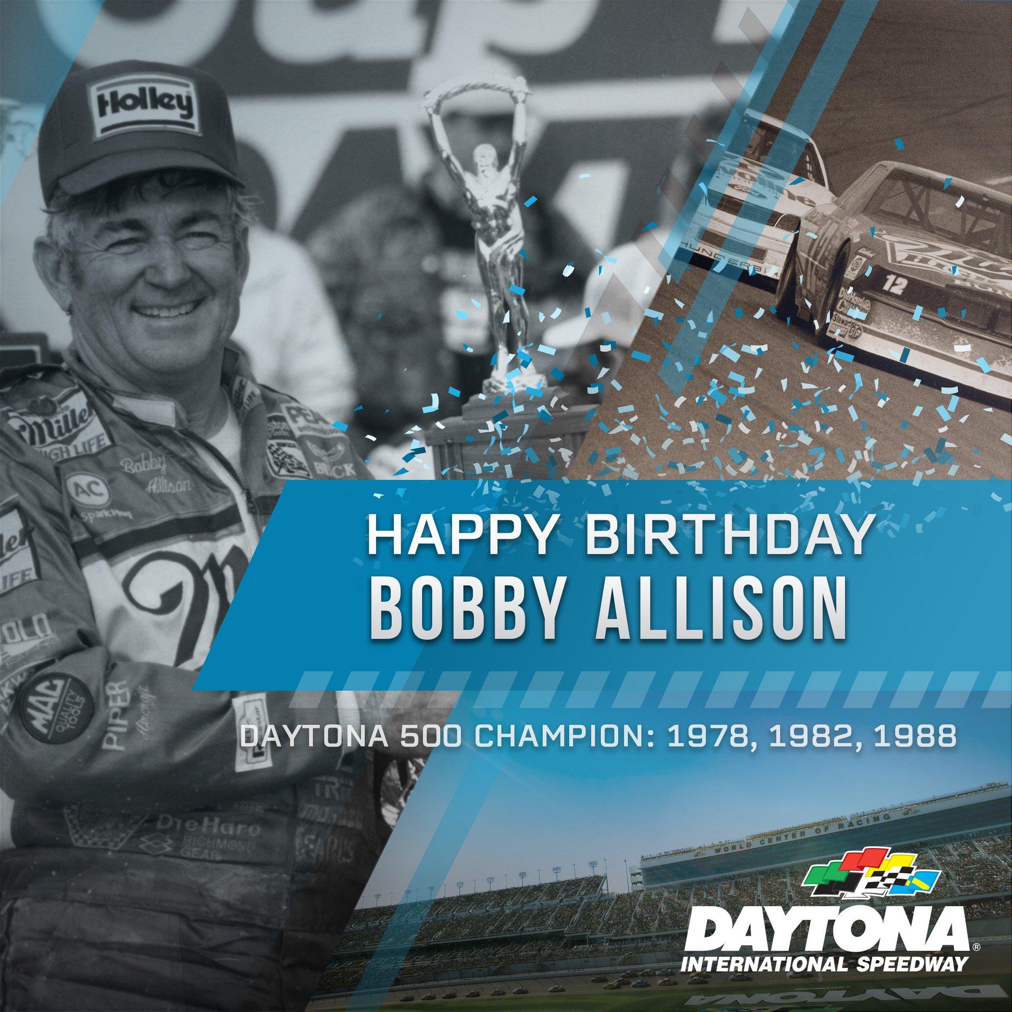 Happy Birthday to 3X Champion Bobby Allison!