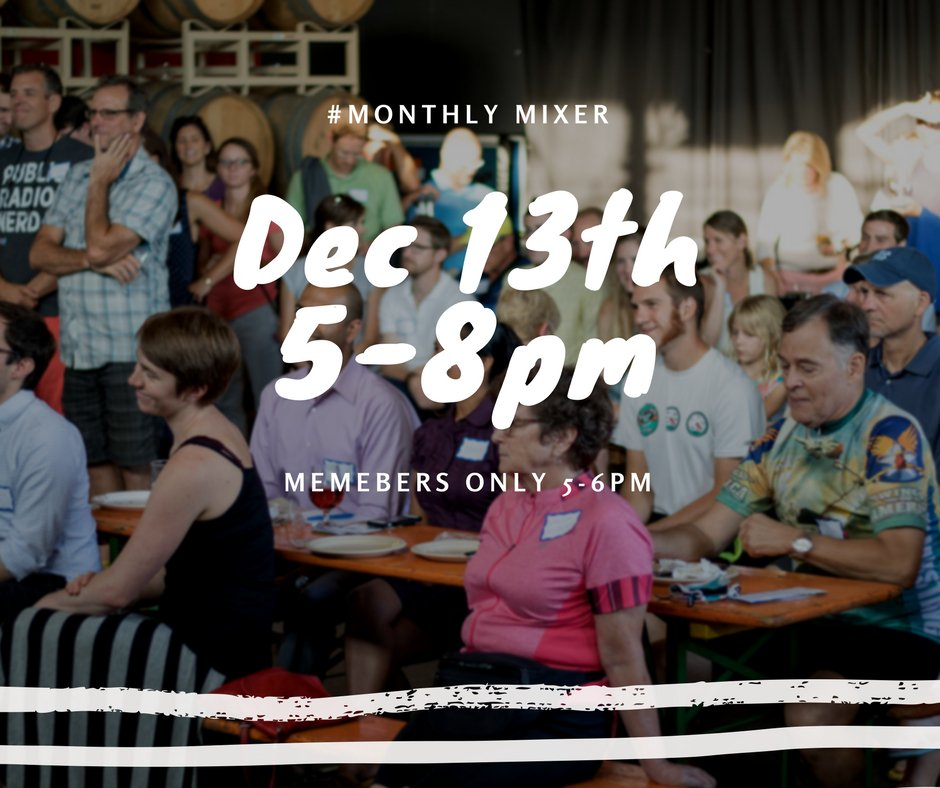 Join us for our family-friendly December #MonthlyMixer and end of year celebration on Wednesday, December 13! We'll take a look back at what Sustain Charlotte has accomplished in 2017 including the success of our #Way2Go initiative.  ow.ly/HHWg30gXmgI