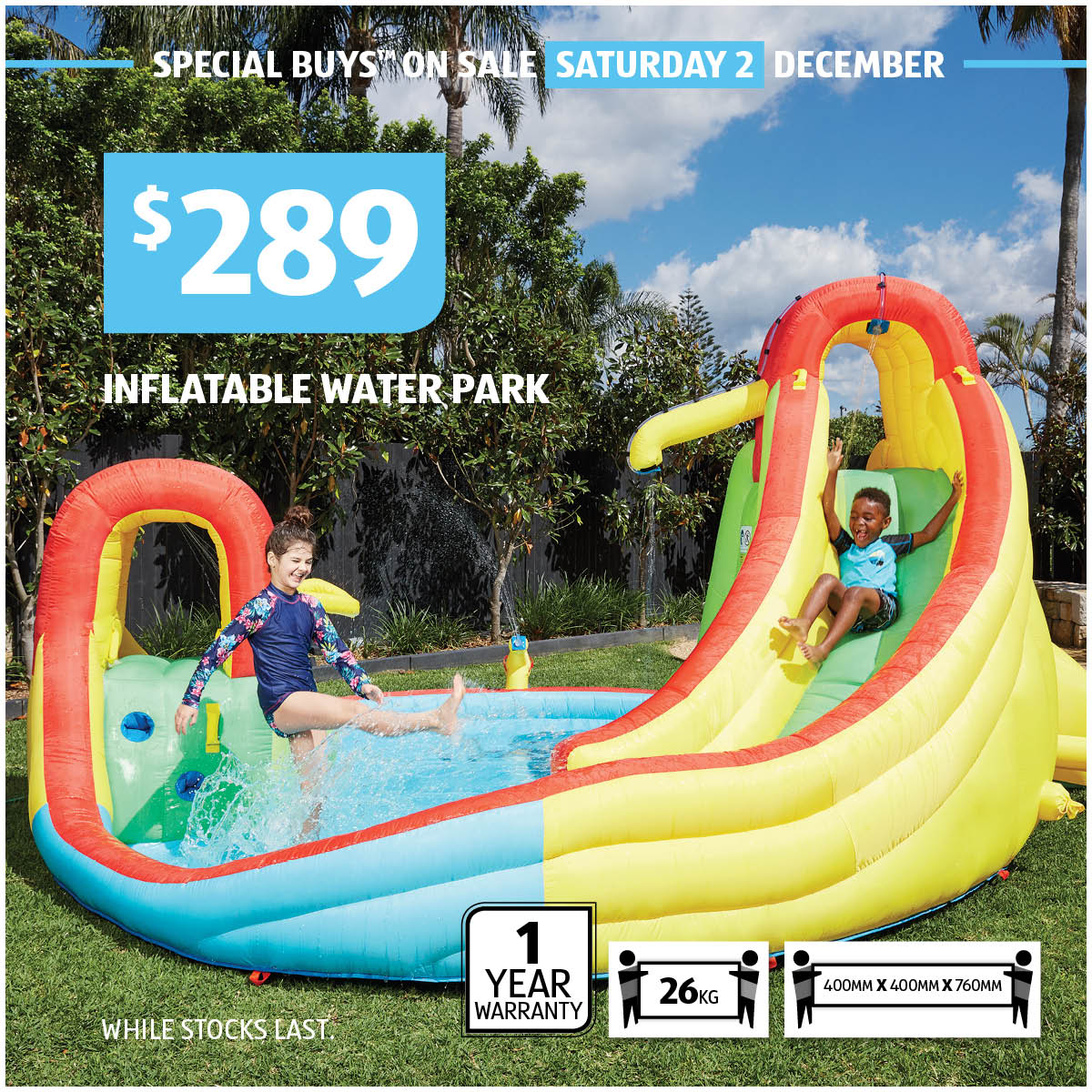 "Ultimate Inflatable Backyard Water Park aldi australia on twitter: ""forget the sprinkler, this is the"