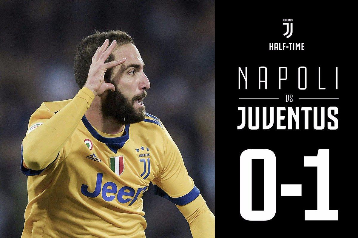 Skor di babak pertama, Napoli 0 Juventus 1, via Twitter @juventusfcen