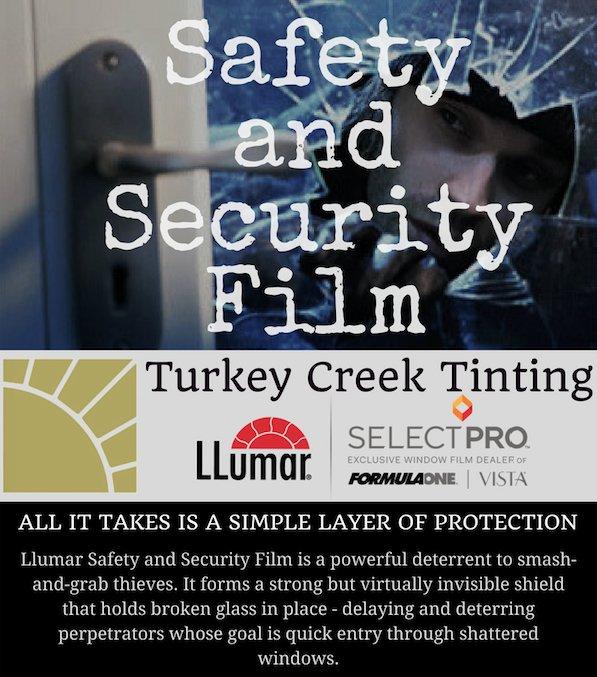Turkeycreektinting Knoxville Knoxrocks Protectyourself Protectivefilm Windows Windowfilm Burglary Eastman Llumar Safetyfirst Safetyfilm