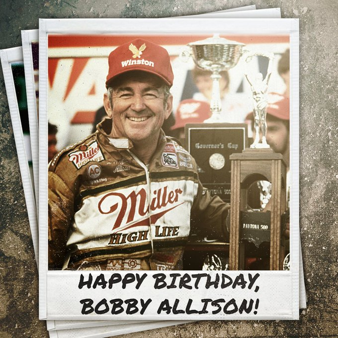 Happy birthday to the three-time Daytona 500 winner, 1983 champion, and inductee Bobby Allison!