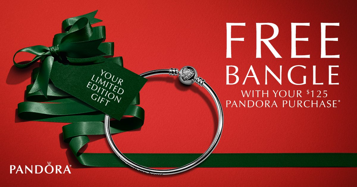 2a8720884 6, PANDORA shoppers will receive a FREE Limited Edition bangle with a $125  PANDORA purchase! See store for details.  #FraportFridaypic.twitter.com/rF2iyj4Cff