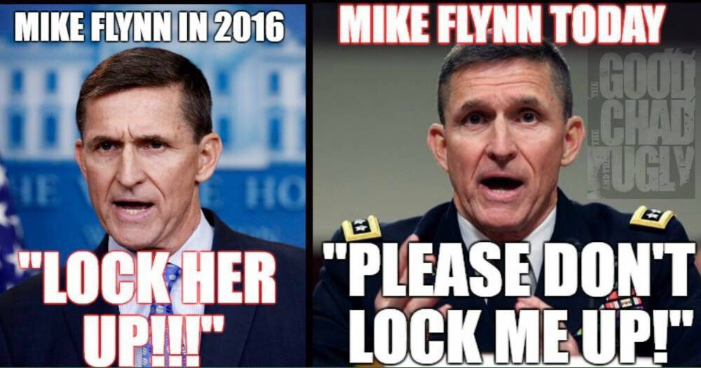 Time On Twitter Michael Flynn Once Led A Lock Her Up Chant At