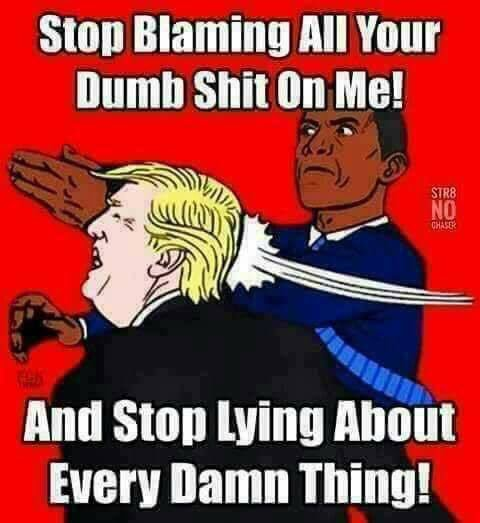 Image result for trump blames obama cartoon