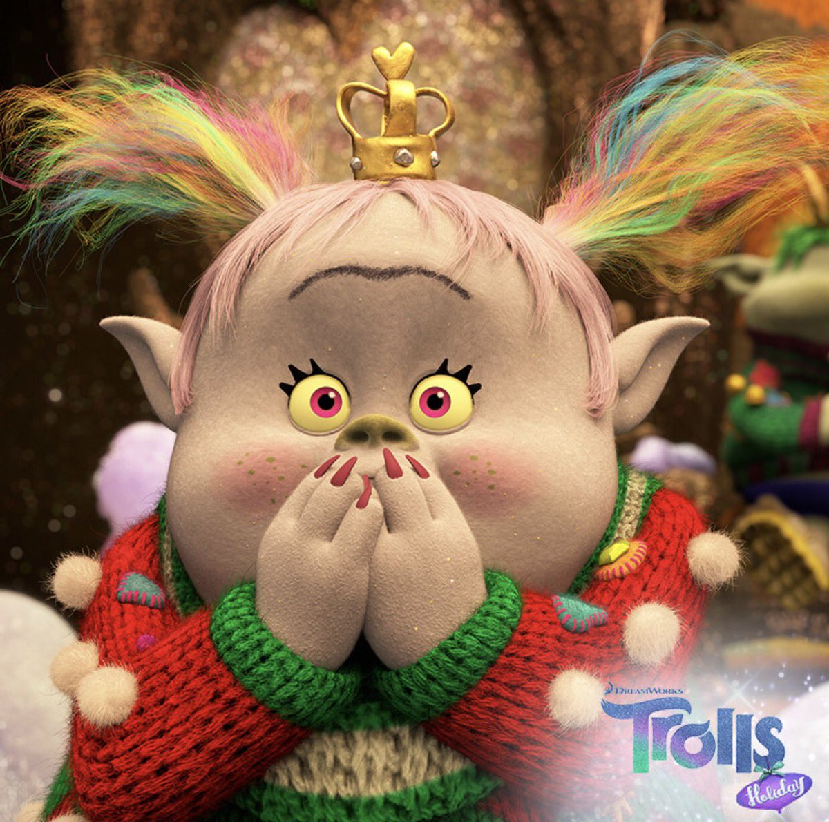 It's time to celebrate! #TrollsHoliday airs tonight on @NBC at 8:30/7:30c