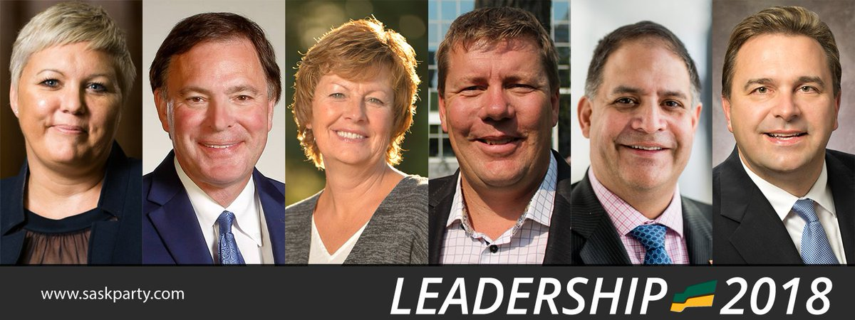 At the close of nominations to be @SaskParty leader and next Premier of Saskatchewan, the official nominees are:  @scotmoe     @kencheveld  @alannaforleader  @GordWyant& @tbeaudrymellor   Good@ClarkeforSask luck to all officially nominated candidates.  #skpldr#skpoli
