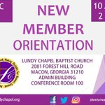 If you've joined Lundy Chapel within the last year, we invite you to complete New Members Orientation classes on December 9th from 10am - 2pm!