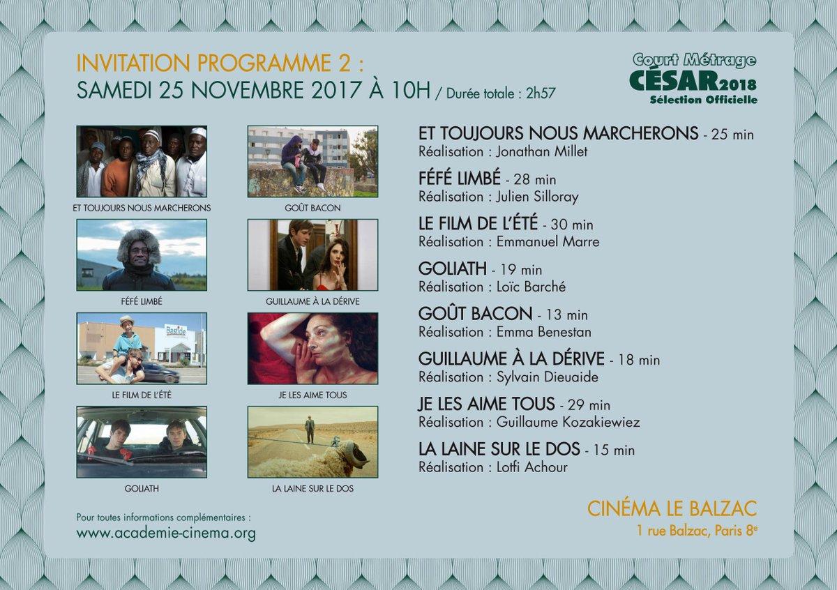 Projection gratuite des #courtsmétrages pré-sélectionnés pour le #César2018 ! Courrez découvrir JE LES AIME TOUS de Guillaume Kozakiewiez #Bretagne #cinémapic.twitter.com/7ig39IYaRd