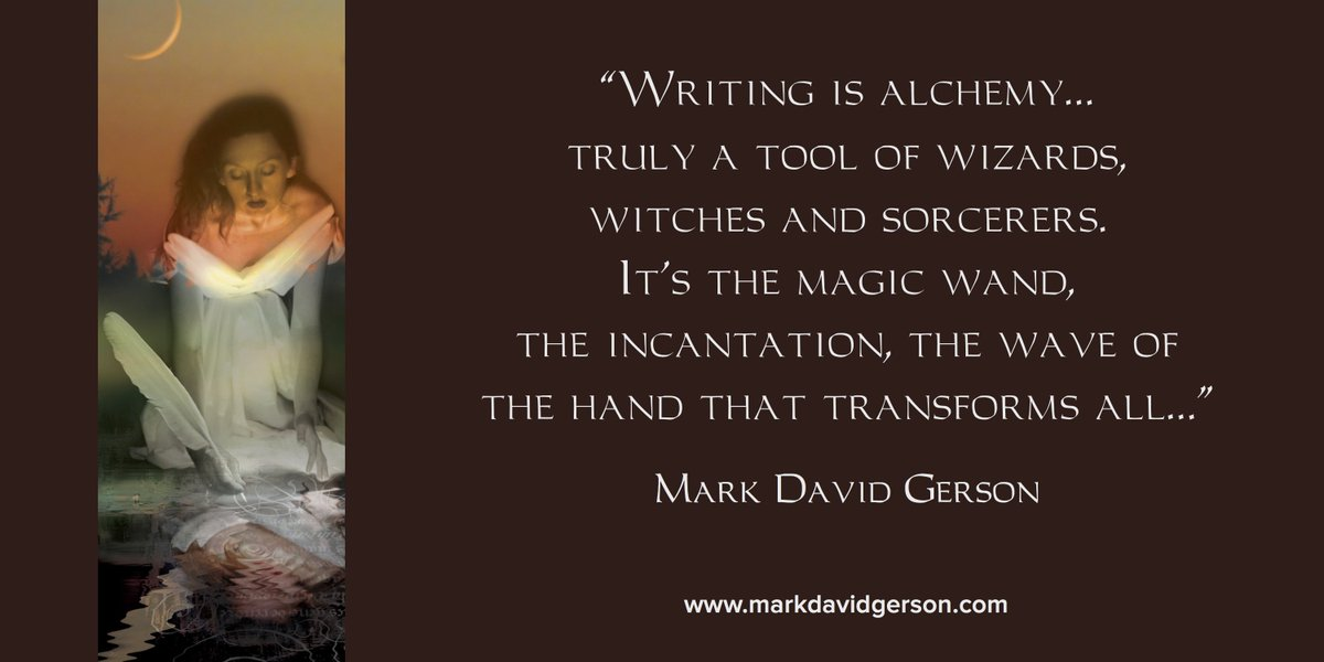 """Writing is alchemy, truly a tool of wizards, witches and sorcerers.&quot; - Mark David Gerson #writing #writerslife    http:// authorlmhinton.com  &nbsp;  <br>http://pic.twitter.com/V1p11xC0X0"