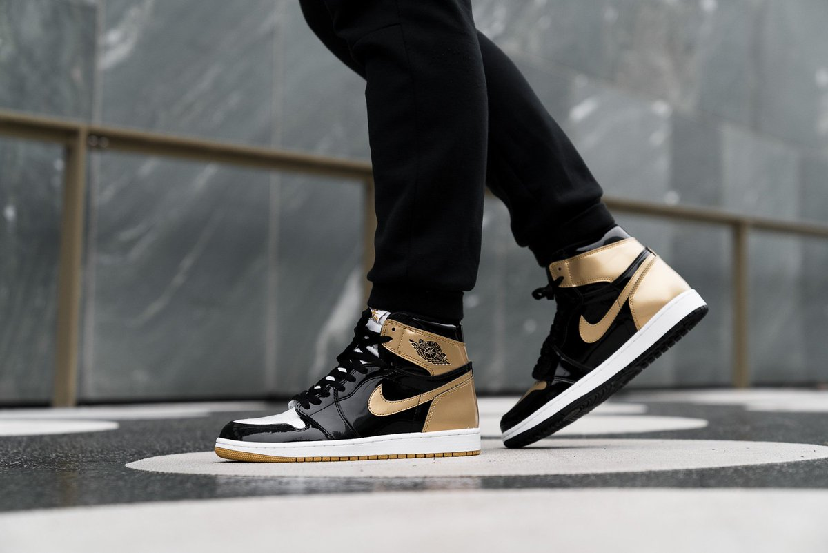 58020469b53611 On feet look at the Air Jordan 1 Retro High OG NRG  Gold Top 3  releasing Cyber  Monday