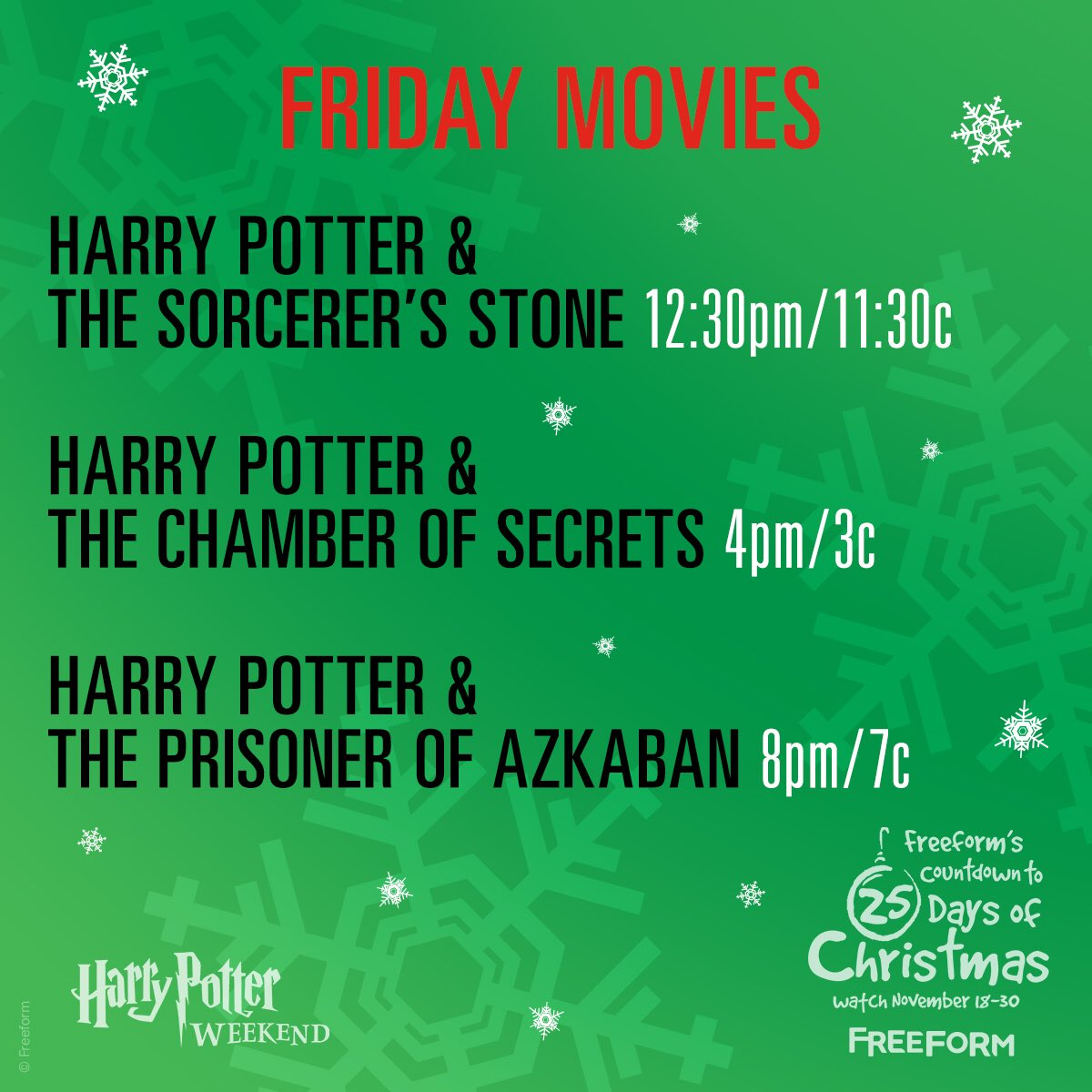 freeform on twitter escape the muggles weve got you covered today merry potter weekend part of countdown to freeforms 25daysofchristmas starts