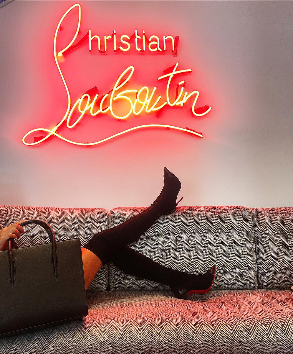 4f40444340e  BlackFriday Add a little RED into your Black Friday shopping Christian  Louboutin  Louboutin  loubitag  somethingrouge Over the knee boots ...