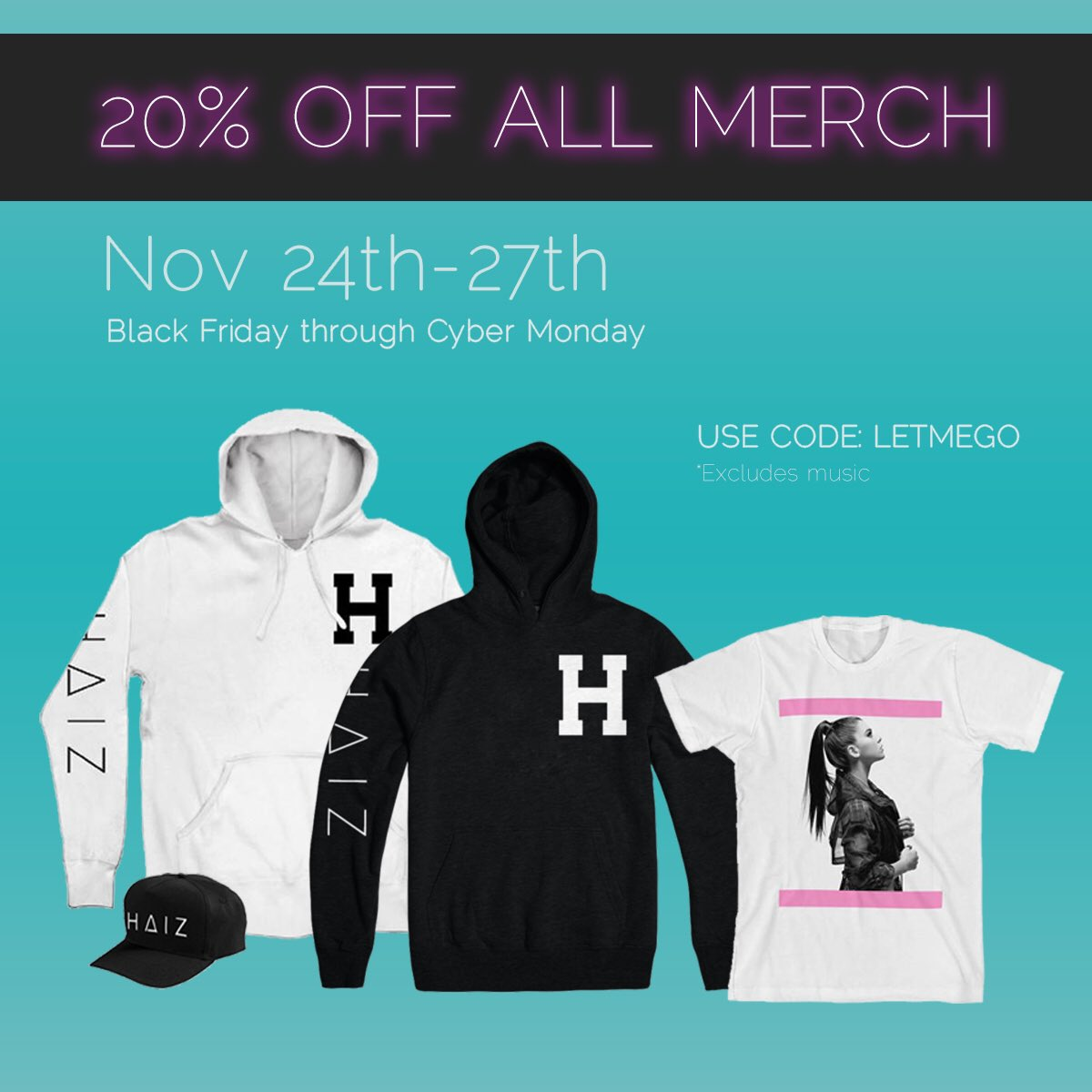 20% OFF ALL MERCH STARTING TODAY THROUGH MONDAY!  ����✨  https://t.co/JMOZR6Qk6C https://t.co/ffLSLojDH0