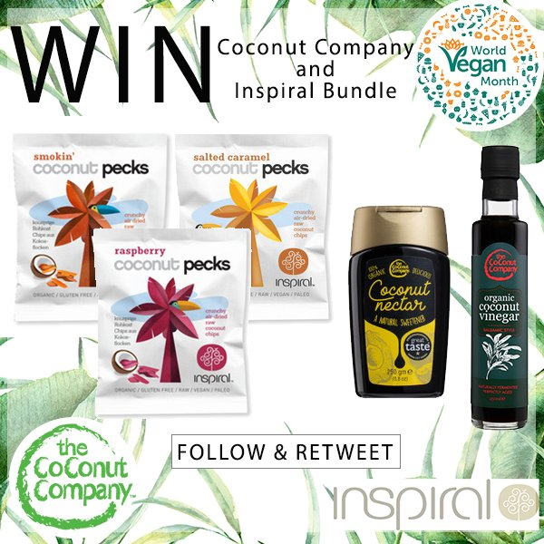 #COMPETITION TIME! #WIN The Coconut Company and @inspiralled bundle! #FOLLOW and #RETWEET to enter! Ends: 9/12/17. Extra entries:  http:// bit.ly/2mbH4mh  &nbsp;  <br>http://pic.twitter.com/J6xPc5cDcD