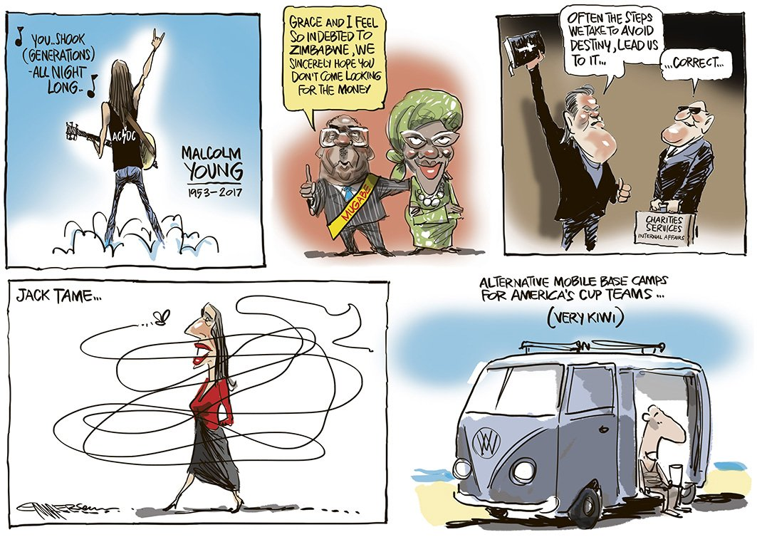 The week that was... in today&#39;s @nzherald #ACDC #Mugabe #Destiny #JackTame #AmericasCup<br>http://pic.twitter.com/fJ9lan8jnu