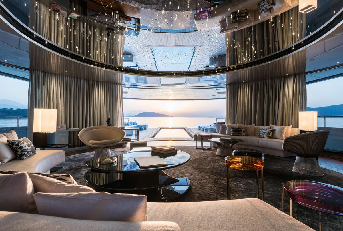 Exceptional This Time Take A Look Inside Savannah And Enjoy The Luxurious Interior  Design, Especially The Nemo Lounge! #superyacht #superyachts #interiordesign  #yachts ...