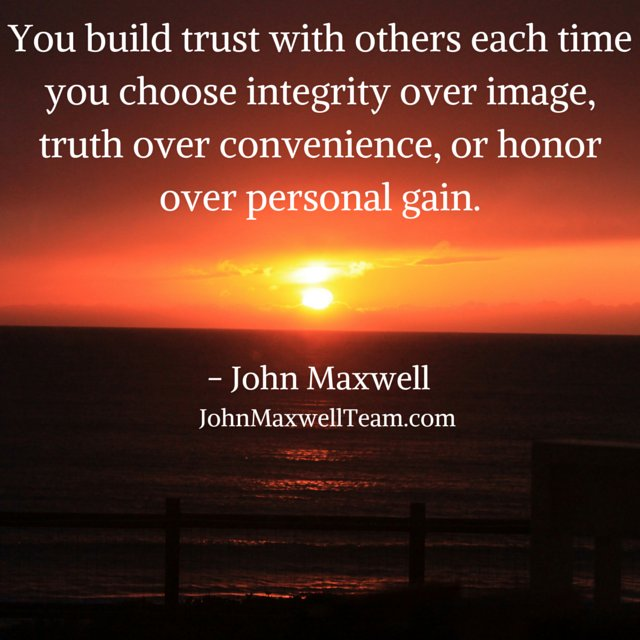 Trust is based on truthfulness. Are you...