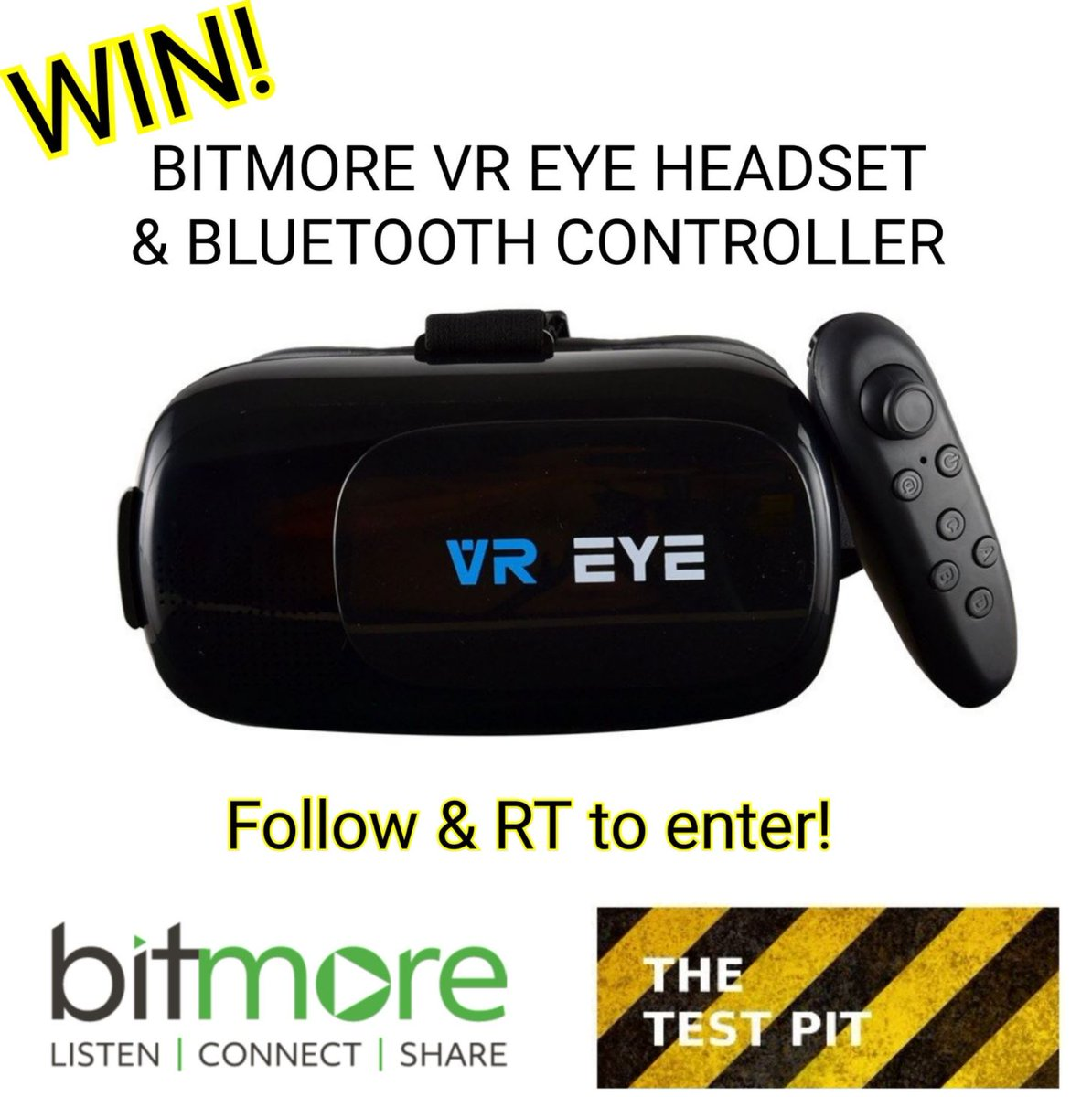 Our latest #competition is to #win a #VR headset and Bluetooth controller from @bitmoreuk Follow &amp; RT to enter!  http://www. thetestpit.com/2017/11/compet ition-bitmore-vr-eye-headset-and.html &nbsp; … <br>http://pic.twitter.com/5XPIsMhoFY